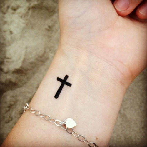 small tattoos for women of crosses