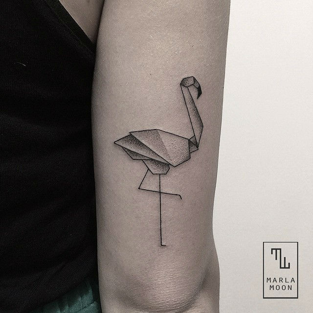 small tattoos for women with geometric shapes