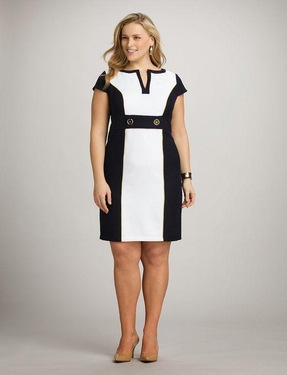 Vestido de fiesta blanco y negro