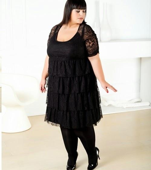 vestidos-de-fiesta-cortos-otoño-invierno-encaje-talla-grande