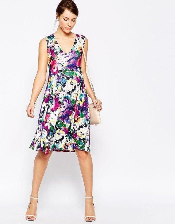 vestidos-de-fiesta-cortos-otoño-invierno-premama-flores