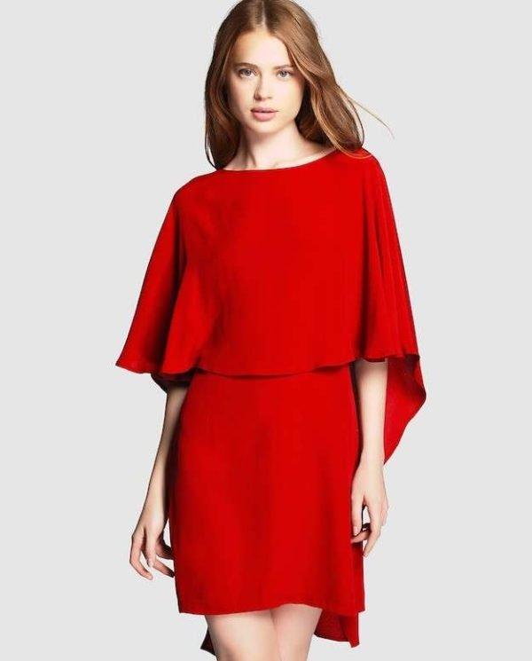 vestidos-de-fiesta-cortos-otoño-invierno-rojo-elegante