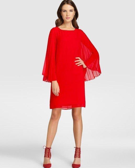 vestidos-de-fiesta-el-corte-ingles-otoño-invierno-corto-rojo