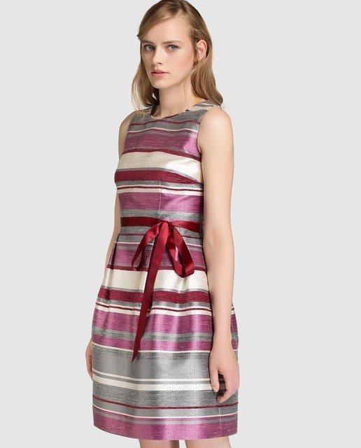 vestidos-de-fiesta-el-corte-ingles-otoño-invierno-corto-rosa-rayas