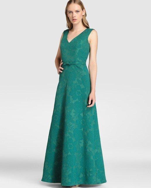 vestidos-de-fiesta-el-corte-ingles-otoño-invierno-verde-largo