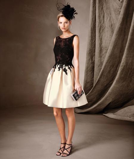 Vestidos de invitada de boda para Primavera Verano 2017 cortos \u2013 En blanco y negro