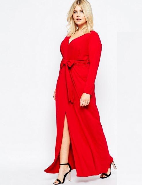 vestidos-de-invitada-de-boda-para-otoño-invierno-rojo-intenso