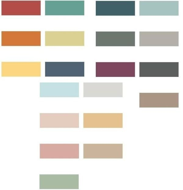 Colores para paredes 2018 for Paleta de colores para paredes interiores