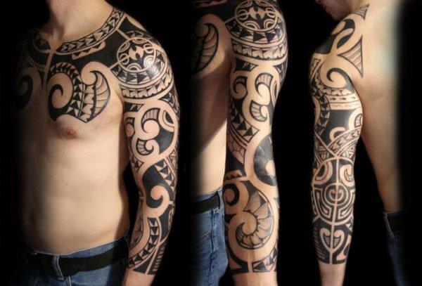 tatuajes-maori-brazo-manga-entera