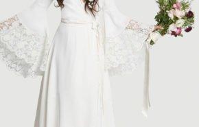 Vestidos de novia hippies Invierno 2017