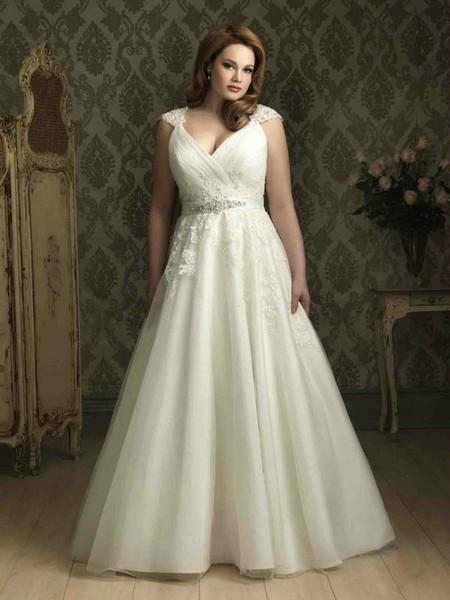 vestidos de novia para gorditas primavera verano 2019 - tendenzias