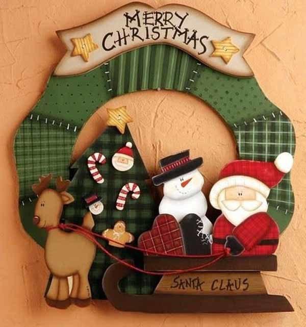 De 250 fotos decoracion navidad 2018 decoracion navide a for Trineo madera decoracion