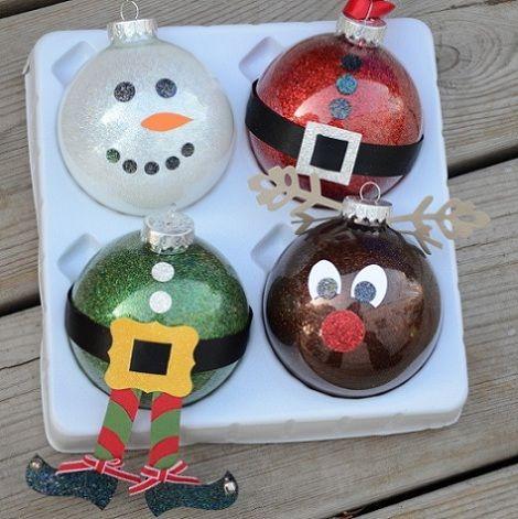 De 80 ideas de bolas de navidad 2018 originales - Manualidades navidenas faciles de hacer en casa ...