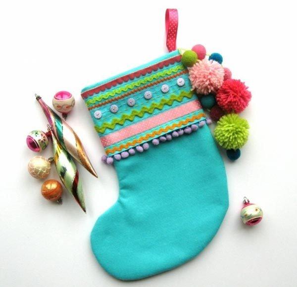 calcetines-de-navidad-turquesa