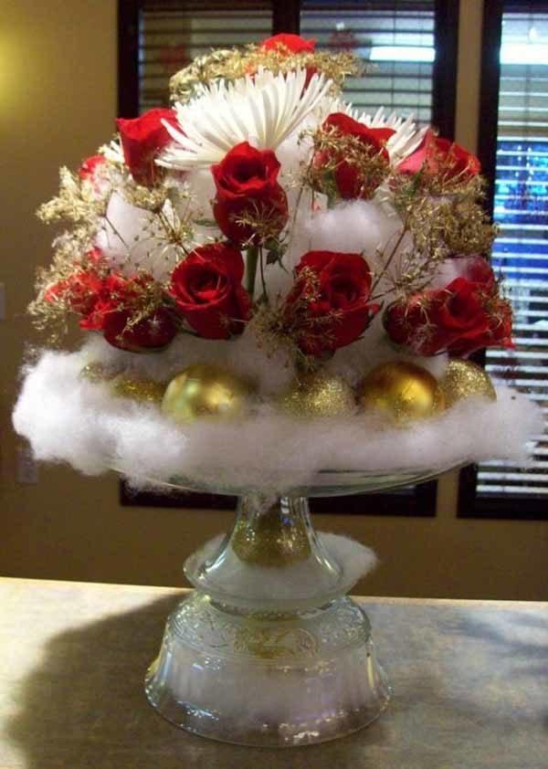 centros-de-mesa-navidenos-bolas-doradas