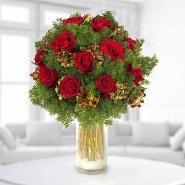 centros-de-mesa-navidenos-rosas-rojas