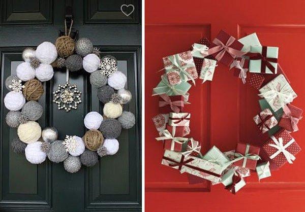 De 250 fotos decoracion navidad 2018 decoracion navide a for Puertas de material reciclado