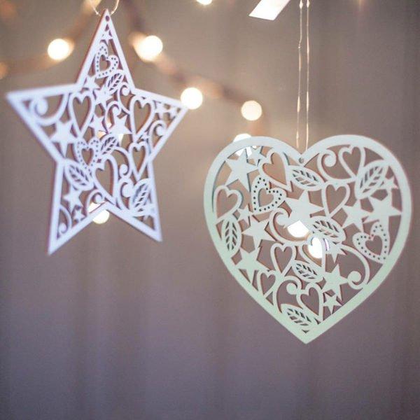 50 ideas de estrellas de navidad y c mo hacerlas - Ideas para decorar estrellas de navidad ...