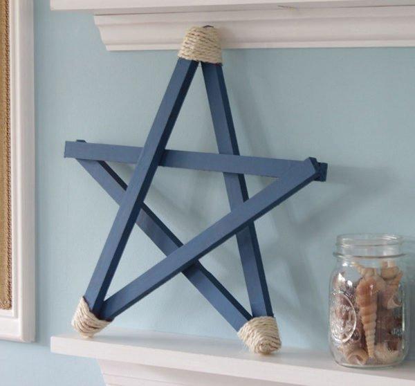 estrellas-de-navidad-decorada-cuerda-azul