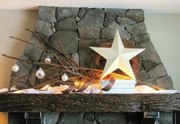 estrellas-de-navidad-en-chimenea