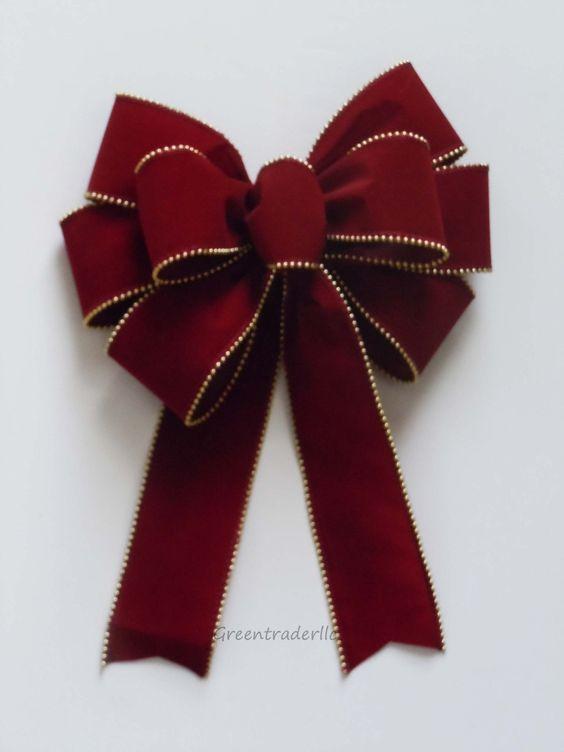 lazos-de-navidad-rojo
