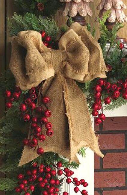 lazos-de-navidad-rustico