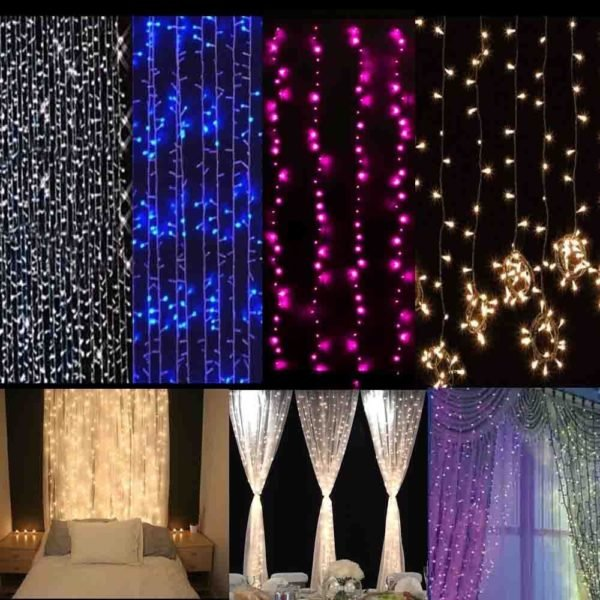 20 fotos de cortinas para navidad 2018 for Cortina de luces led