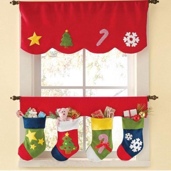 20 fotos de cortinas para navidad 2018 - Decoracion adornos navidenos ...