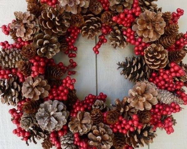 Más de 50 Fotos de Coronas de Navidad 2016 para decorar la casa