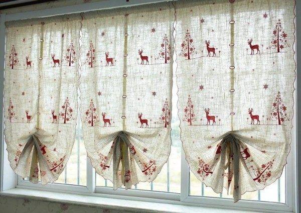 + 20 fotos de cortinas para Navidad 2016