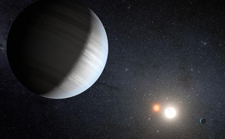 Descubren dos exoplanetas orbitando un sistema binario de estrellas