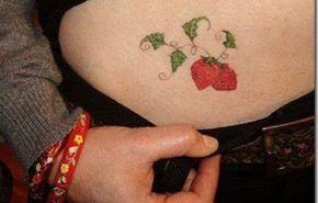 Mas tatuajes de fresas