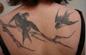 Tatuajes de aves   golondrinas