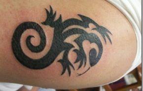 Tatuajes tribales de geckos