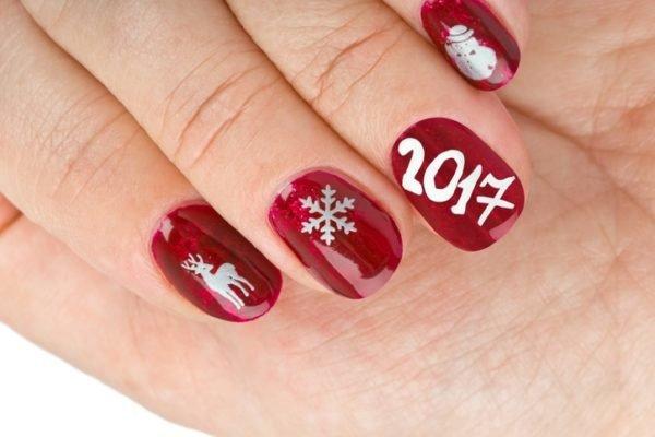 Unas navidenas rojas con ano