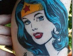 Tatuajes de superheroes | Wonder Woman