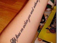 Tatuajes de letras de canciones