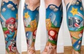 Tatuajes de Mario Bros