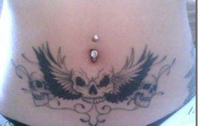 Tatuajes calaveras aladas