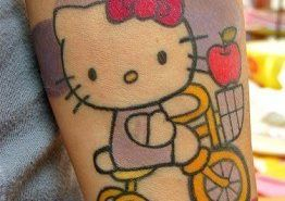 Tatuajes modernos: Hello Kitty