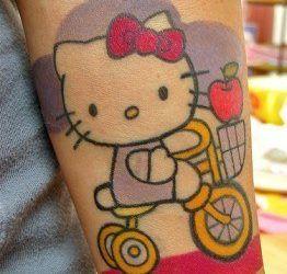 Tatuajes modernos: Hello Kitty