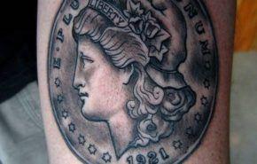 Tatuajes de monedas| símbolos buena suerte