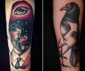 Tatuajes raros y surrealistas