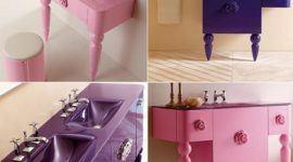 Mobiliario de baño con aire vintage