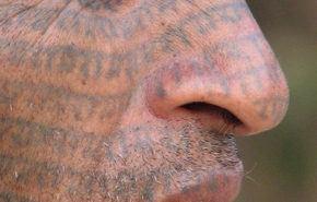 El tatuaje en el rostro