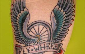 Tatuajes de Rueda con Alas