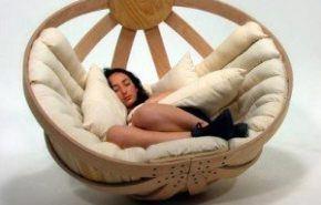 The Cradle rocking chair, una silla mecedora