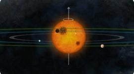 Sistema solar ordenado como el nuestro