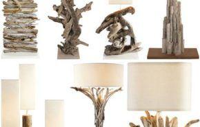 Lámparas rústicas de madera