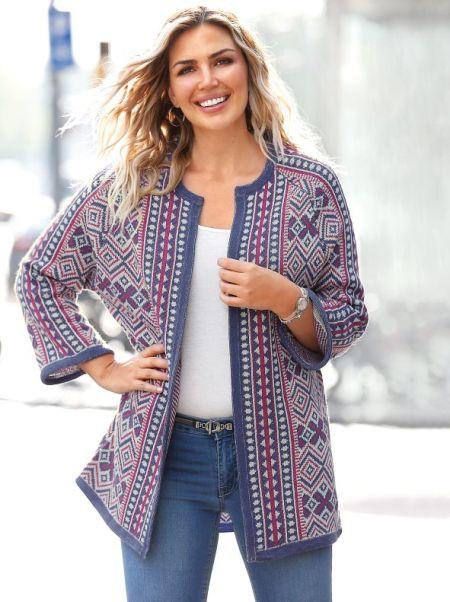 venca-catalogo-chaqueta-de-tricot-jacquard-con-diseno-geometrico-tallas-grandes-bellisima